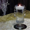 Giselle with crystal drops floating candle centerpiece