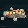 Silk Wild Flowers in Wood bowl Floating Candle Centerpiece Kit