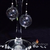 Double loop hanging glass bubbles, 60mm