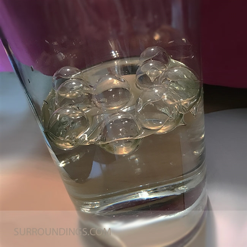 glass floating bubbles