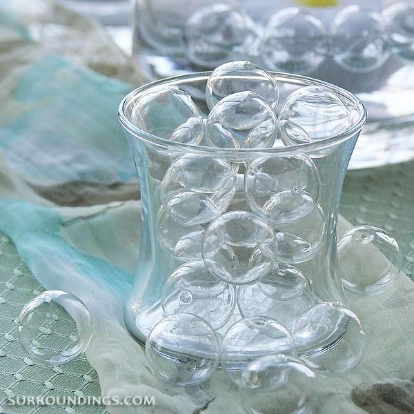 Mini glass floating bubbles