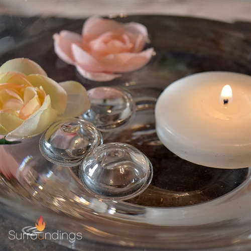 "1"" floating glass bubbles for floating candle centerpieces"
