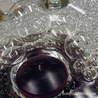 "2.5"" iridescent floating glass bubbles for centerpieces"
