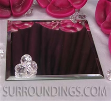 "5"" square centerpiece mirror"