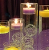 Tea light cylinder set of 3 can be used as tea light holders or cylinder vases