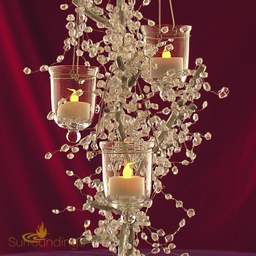 Glass hanging votive cup