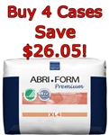 Bundle of 4 Cases of 48 - Abena Abri Form XL4 Premium