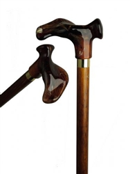 Amber Ergonomic Handle Cane on Cherry Shaft
