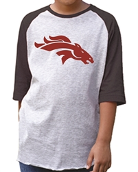 Craig Maroon Logo on 3/4 Sleeve T-Shirt