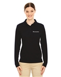 Ladies' Pinnacle Performance Long Sleeve Piqué Polo