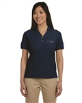 Women's Pima Piqué Short-Sleeve Y-Collar Polo