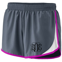 Monogrammed Running Short with Contrast Trim