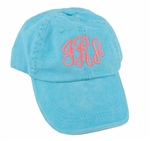 Monogrammed Washed Pigment Dyed Cap
