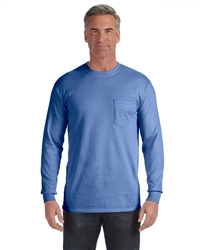 Long Sleeved garment-dyed pocket t-shirt