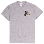 New Zealandn Flag Monogram T-Shirt in Sport Grey