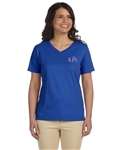 LAT Ladies Combed Ringspun Jersey V-Neck T-Shirt