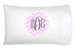 "Personalized Pillowcase with 6"" Printed Monogram"