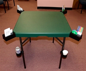 Bridge Buddy Deluxe Game Table - NEW USA Patented Bridge & Card Table with Optional Cup Holders