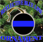 Single Thin Blue Line Porcelain Ornament
