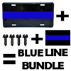 Thin Blue Line License Plate Bundle Package