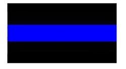 Reflective Thin Blue Line Decal