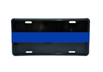 Reflective Police Thin Blue Line License Plate