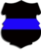 Reflective Thin Blue Line Police Sheild Decal