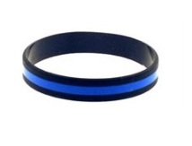 Thin Blue Line Silicone Wristband