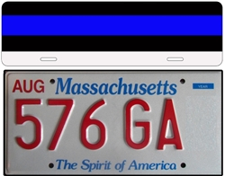 Reflective Thin Red Line License Plate Topper
