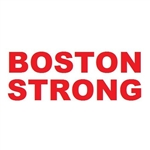 "Boston Marathon Memorial ""Boston Strong"" Decal 1.5 x 4"""