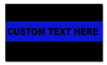 Custom Thin Blue Line Decal