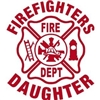 Firefighter's Daughter Maltese Vinyl Decal