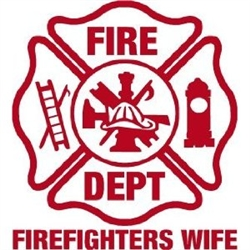 Firefighter's Wife Maltese Vinyl Decal