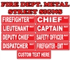 "Fire Department Metal 6"" by 24"" Novelty Street Signs"