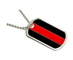 Fire Dept Reflective Thin Red Line Dog Tag