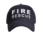 Deluxe Fire and Rescue Navy Baseball Cap