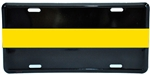 Thin Gold Line Metal License Plate