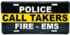 Caller Takers Police, Fire, and EMS Thin Gold Line License Plate