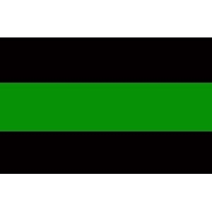 reflective thin green line decal. Black Bedroom Furniture Sets. Home Design Ideas