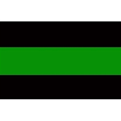 Reflective Thin Green Line Decal