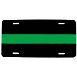Reflective Thin Green Line License Plate