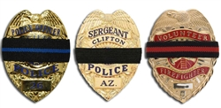 Badge Mourning Bands Thin Blue Line, Thin Red Line, or Black