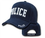 Deluxe Navy Blue Police Low Profile Baseball Cap