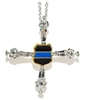 Police Officer's Thin Blue Line Cross