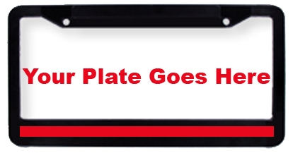 reflective thin red line license plate frame