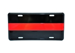 Reflective Thin Red Line License Plate