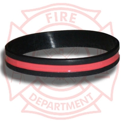 Thin Red Line Silicone Wristband