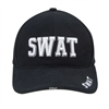 Deluxe Black Police SWAT Low Profile Baseball Cap