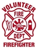 Volunteer Firefighter Maltese Vinyl Decal