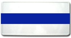 Reflective Police Thin Blue Line License Plate White